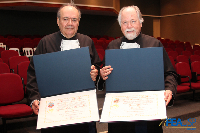 Os novos professores eméritos, Denisard Alves e Jacques Marcovitch
